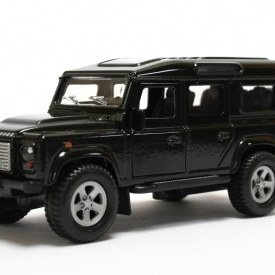 Die Cast Pull-Back Land Rover Defender - Black