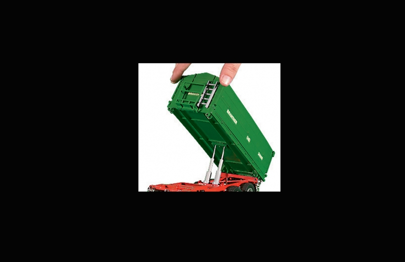 SIKU 2877 Brantner 3 axled 3 way tipping trailer rear tip