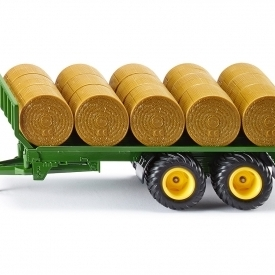 Round Bale Trailer with 15 Bales